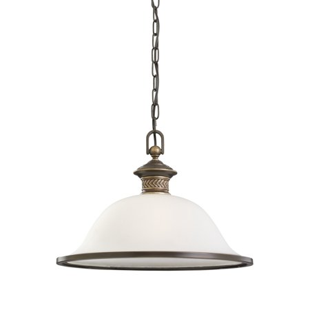 Laurel Leaf 1 Light Pendant (Sea Gull Lighting Laurel Leaf 1-Light Pendant in Estate)