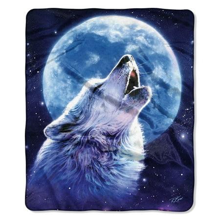 American Heritage, u0022Blue Moonu0022 Throw Blanket, 50u0022 x 60u0022