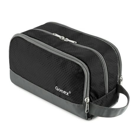 Travel Toiletry Bag, Gonex Dopp Kit Shaving Bag Toiletry Organizer Nylon Toiletry Kits
