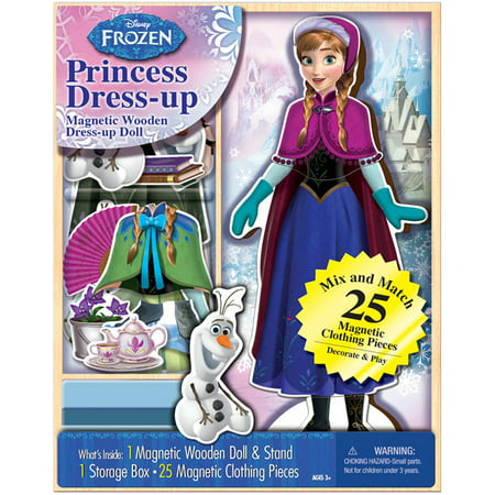 Disney Frozen Anna Princess Dress-up Wooden Magnetic Play Set, 25pc