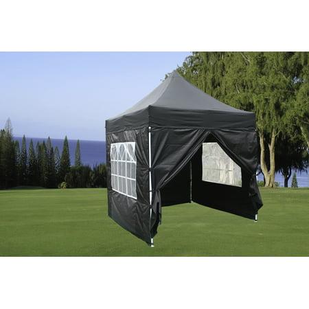 8 X8 Black Ez Pop Up Canopy Party Tent Instant Gazebo 100