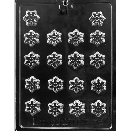 Snowflake Candy (Snowflake Bite Size Deco Chocolate Mold Mould Holiday Candy Soap)