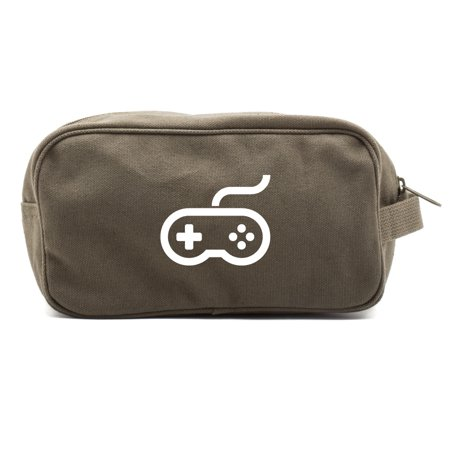 Nintendo Controller Canvas Dual Two Compartment Travel Toiletry Dopp Kit