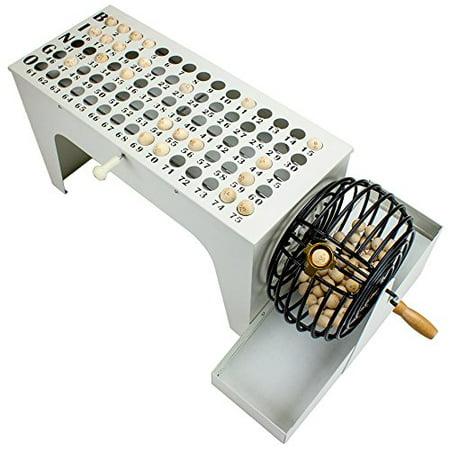 EZ-Reset Professional Tabletop Bingo Machine with 75 Wooden Balls