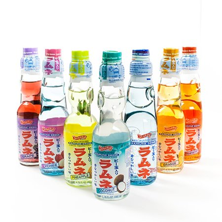 Shirakiku Ramune Carbonated Soft Drink Soda 200 ml - Orange (200 ml)