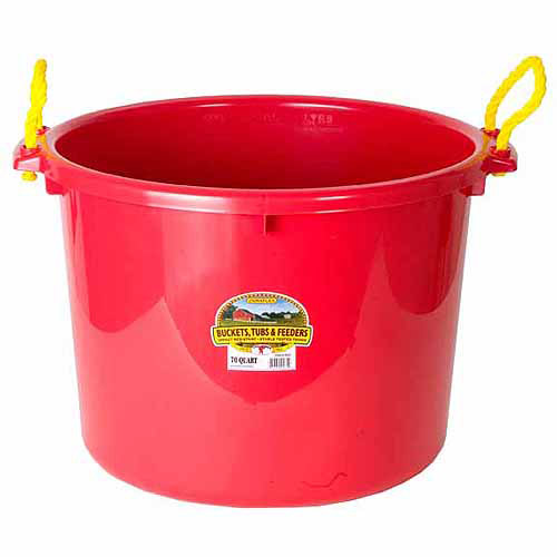 Miller Manufacturing 1.75 Bushel Red  Muck Bucket
