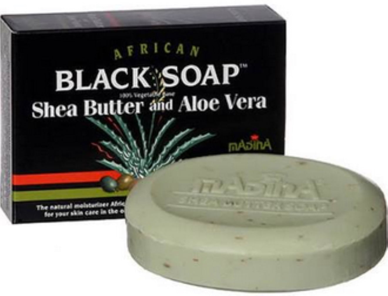 Madina African Black Soap Shea Butter And Aloe Vera 3 5 Oz