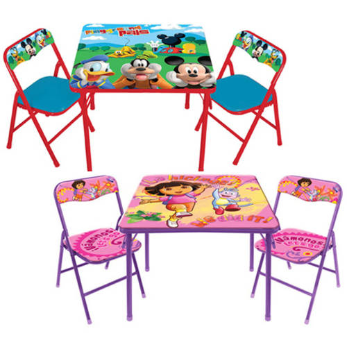 Toddler Activity Table & Chairs Set (Your Choice of Character) with Room Accessory