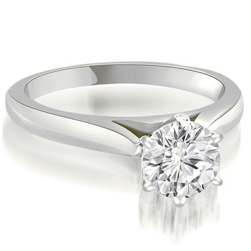 """""""0.45 cttw. 18K White Gold Cathedral 6-Prong Round Cut Diamond Engagement Ring (I1, H-I)"""""""