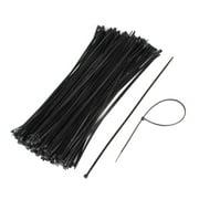 200 Pcs 3.5x300mm Network Cable Wire Nylon Zip Tie Strap Fastener Black