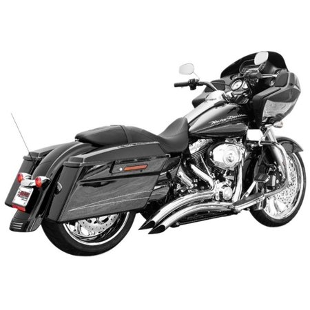 Freedom Performance HD00645 Sharp Curve Radius Exhaust System - Chrome with Scallop Cut