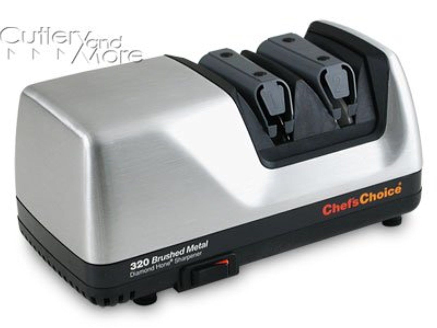 Chef's Choice 320 Diamond Hone 2-Stage Electric Knife Sharpener, Brushed Metal by Chef's Choice