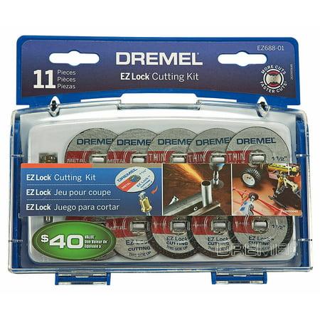 (Dremel EZ688-03 Rotary Tool EZ Lock Cutting Kit, 11-Piece)