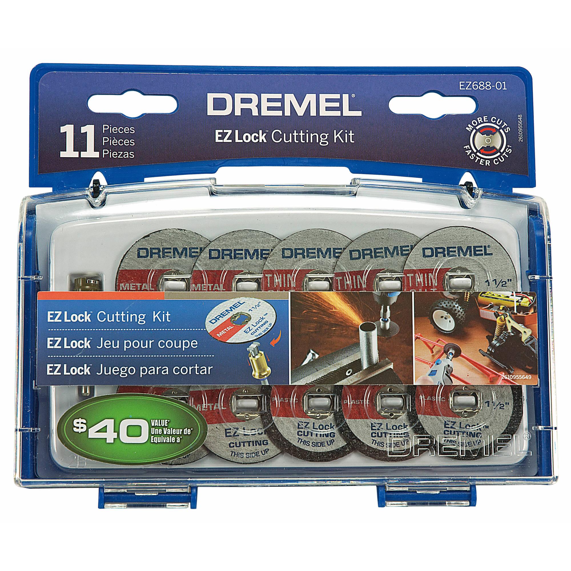 11-Piece Dremel EZ688-03 Rotary Tool EZ Lock Cutting Kit
