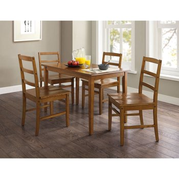 Mainstays 5-Piece Walnut Finish Dining Set