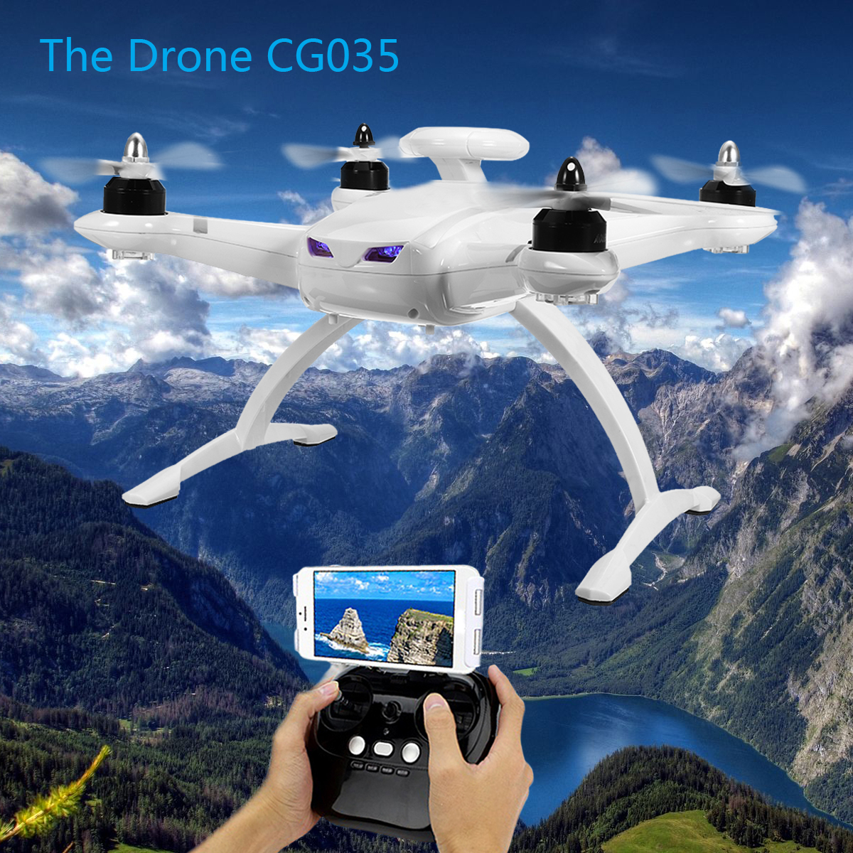 AOSENMA CG035 2.4G 4CH 6 Axis RTF Brushless Double GPS WIFI Camera FPV RC Drone Quadcopter Toy Gift