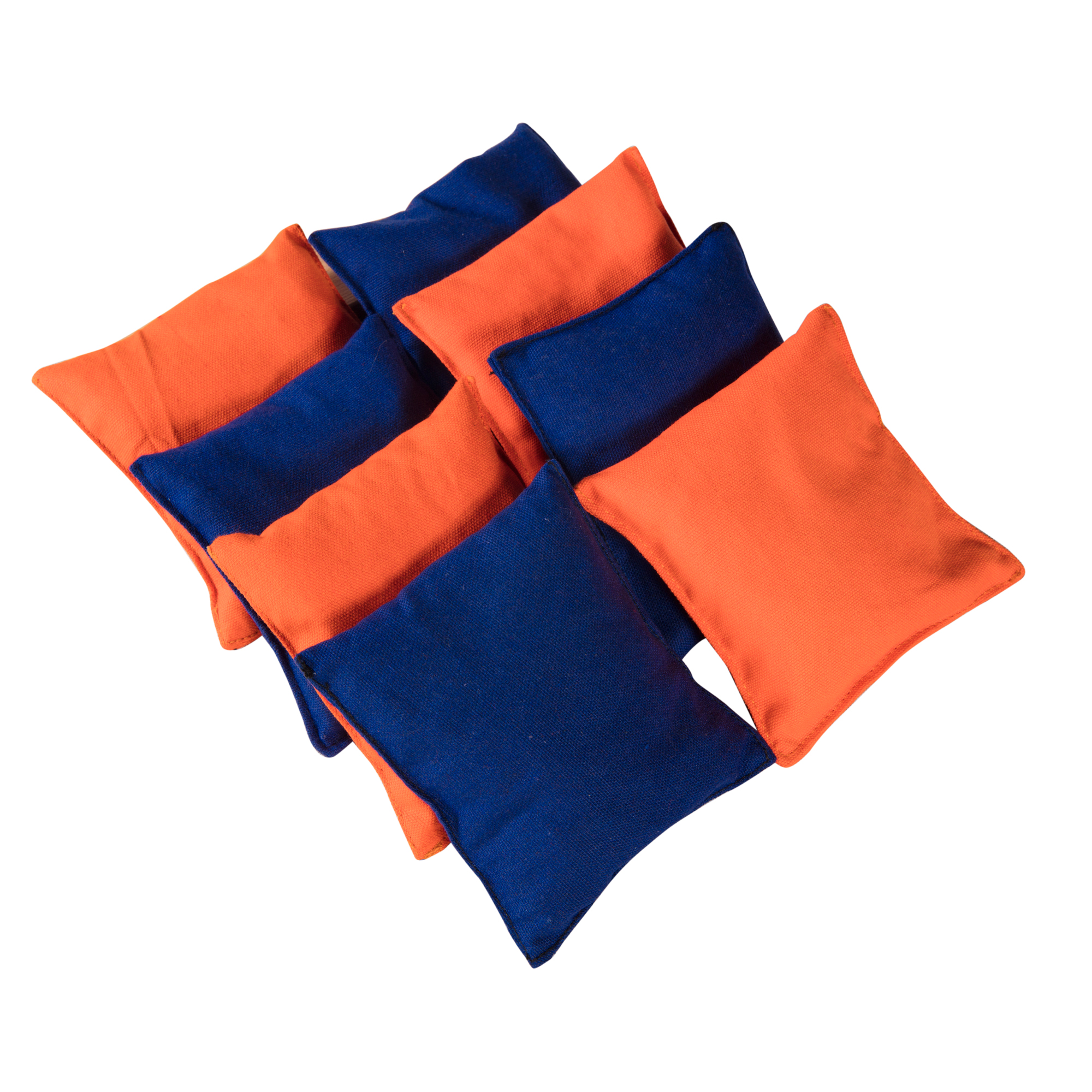 Cornhole Beanbags Replacement Orange & Blue by Phelps Group