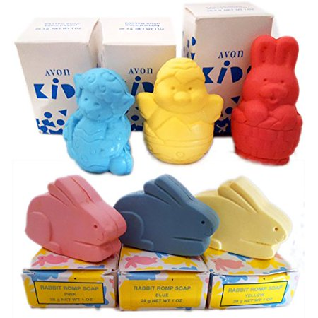 Avon Kids Easter Soaps & Rabbit Romps Soaps Set of 6 (1 oz/ ea) ()