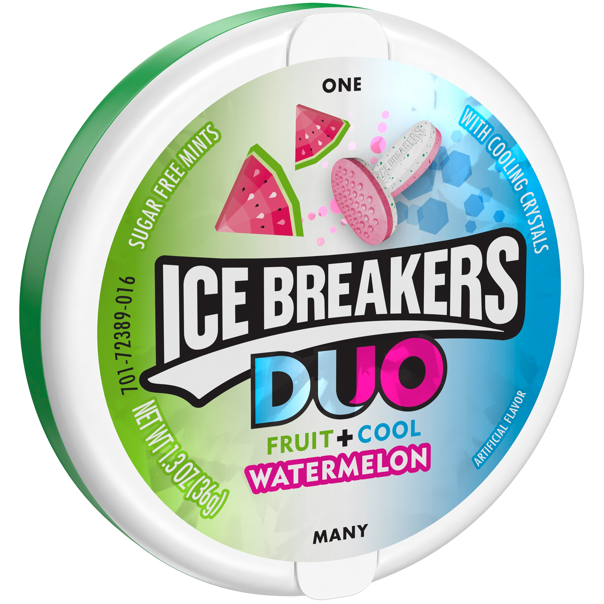 ICE BREAKERS DUO Watermelon Flavored Mints, 1.3 oz by The Hershey Company