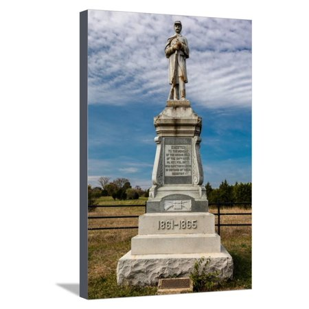 Bloody Cedars Civil War Memorial, commemorating battle between North and South - Shenandoah Coun... Stretched Canvas Print Wall
