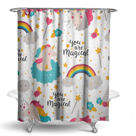 Zoomie Kids Dolby Unicorn Shower Curtain