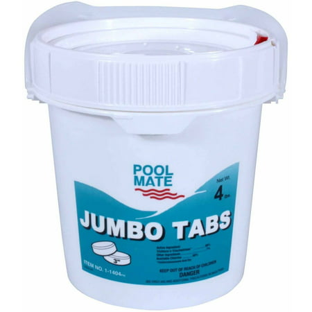 "Pool Mate Jumbo 3"" Chlorine Tablets for Swimming Pools"