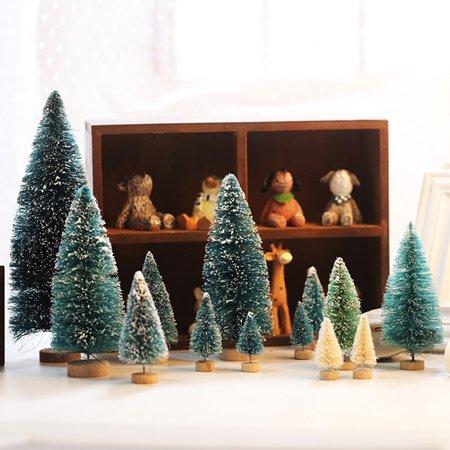 snowflakes mini artificial christmas tree festival decoration ornament gift