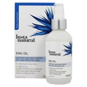 InstaNatural Emu Oil, 100% Pure Moisturizer for Hair, Stretch Marks & Scars, 4 Oz