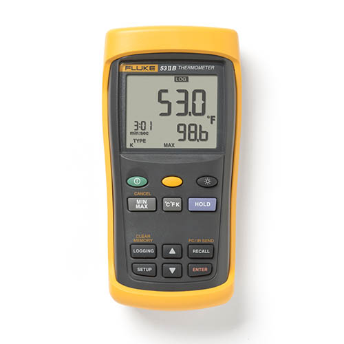 Fluke 53 II B Single Input Digital Thermocouple Thermomet...