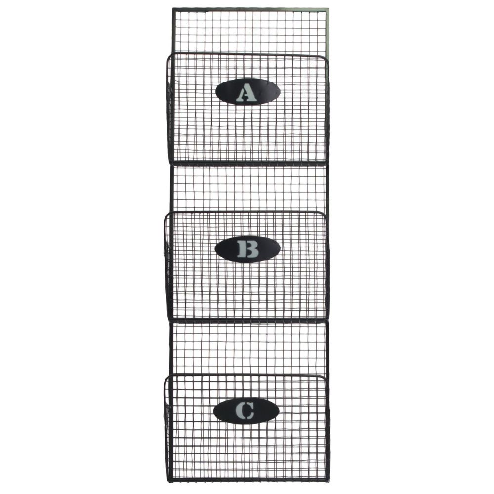 Remarkable Small Metal Mail Organizer With Mesh Design - Gray