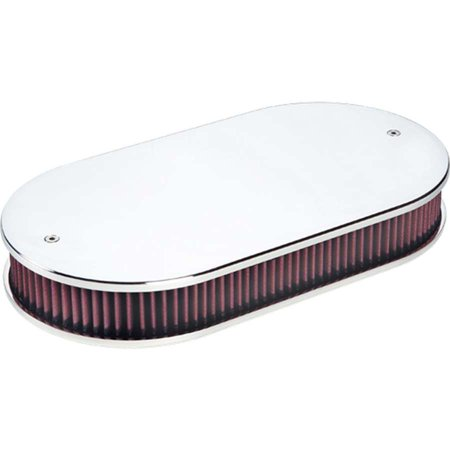 Oval Billet (BILLET SPECIALTIES 17-1/2 x 9-3/8 in Oval Air Cleaner Assembly P/N 15529 )