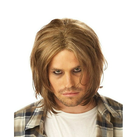 Kurt Cobain Wig Nirvana Grunge Adult Mens Costume Hair 90's Music Blonde (Blonde Hair Costumes)