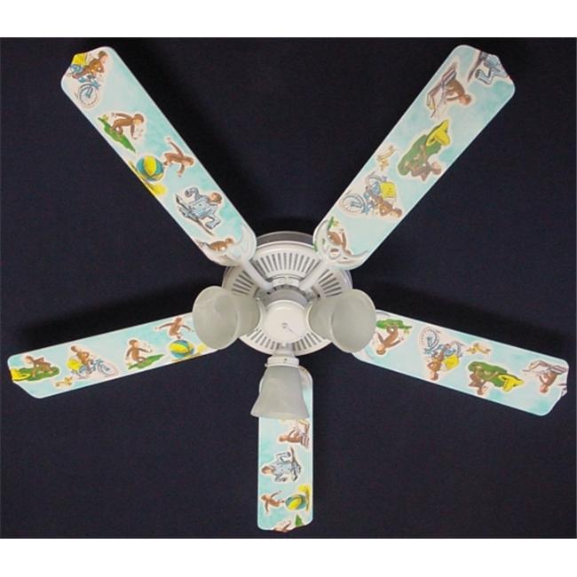 Ceiling Fan Designers 52FAN-KIDS-CGM Curious George Monkey Ceiling Fan 52 inch