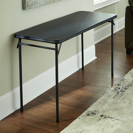 Cosco 20 x 48 vinyl top folding table black best for Table x reviews