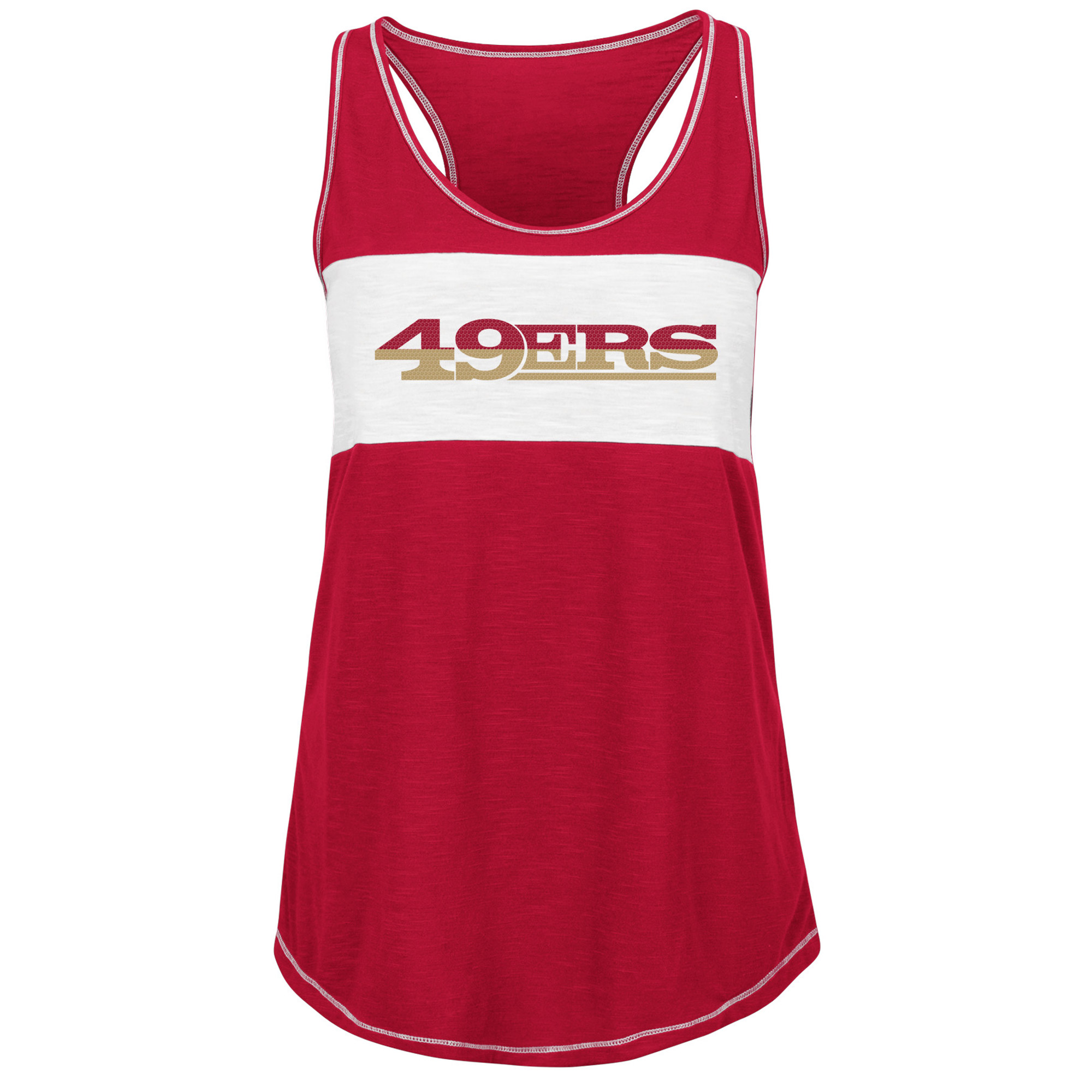 San Francisco 49ers Majestic Women's Game Time Glitz Tank Top - Scarlet