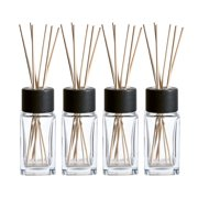 Best Diffuser Sticks - Clear Glass Diffuser Bottles with Natural Reed Sticks Review