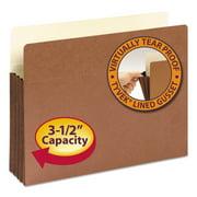 "3 1/2"" Exp File Pocket, Straight Tab, Letter, Manila/Redrope, 10/Bx -SMD73264"