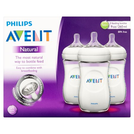 Philips Avent Natural 9 Oz Feeding Bottles 1M   3 Count