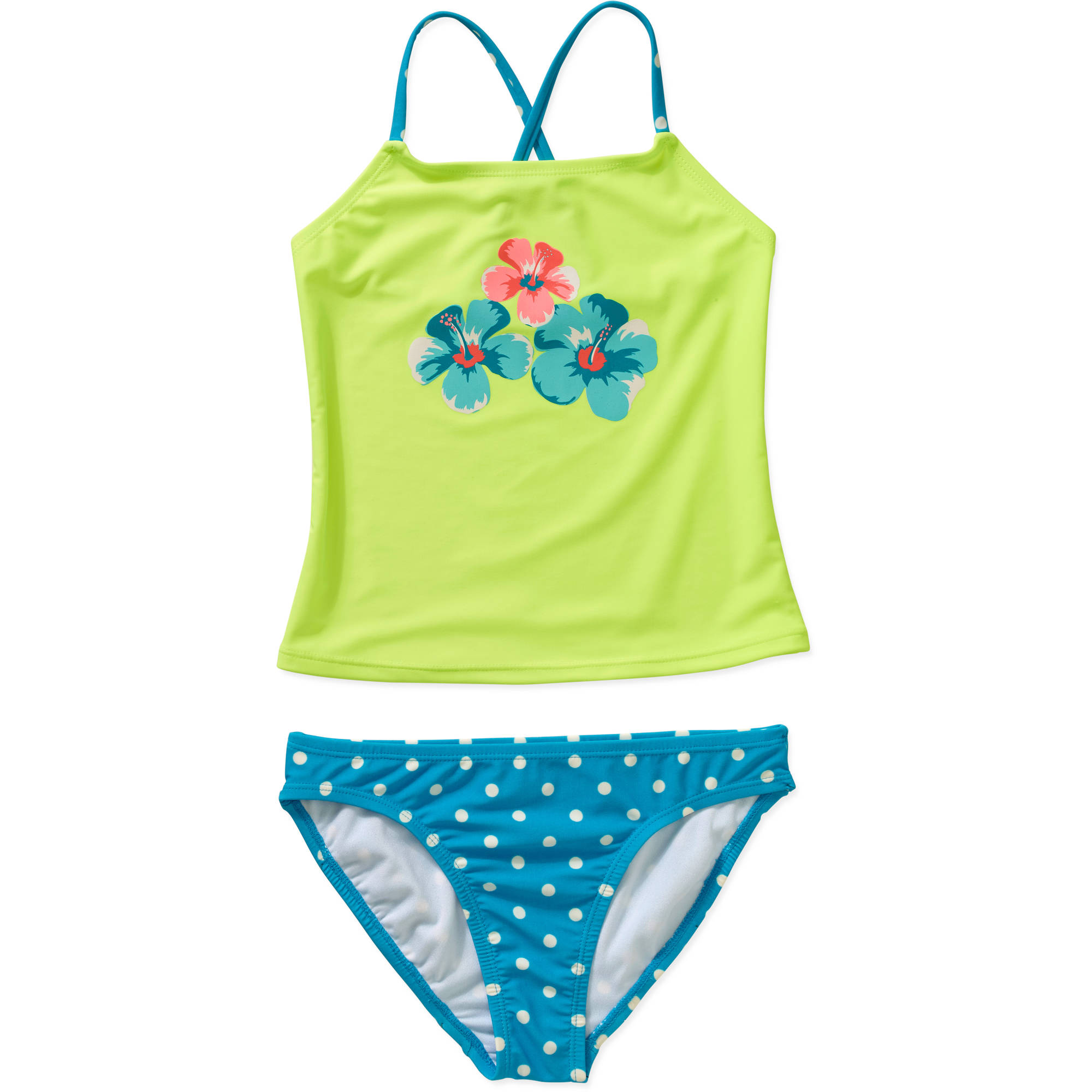 OP Girls' Tankini Floral Swimsuit