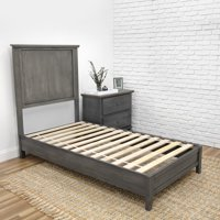 Complete Platform Bed Slate Grey Twin Xl