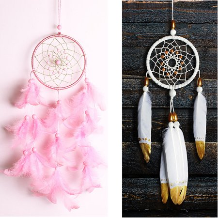 4 Types Handmade Dream Catcher Net Hanging Home Car Decoration Decor Craft Gift SLEEP WELL