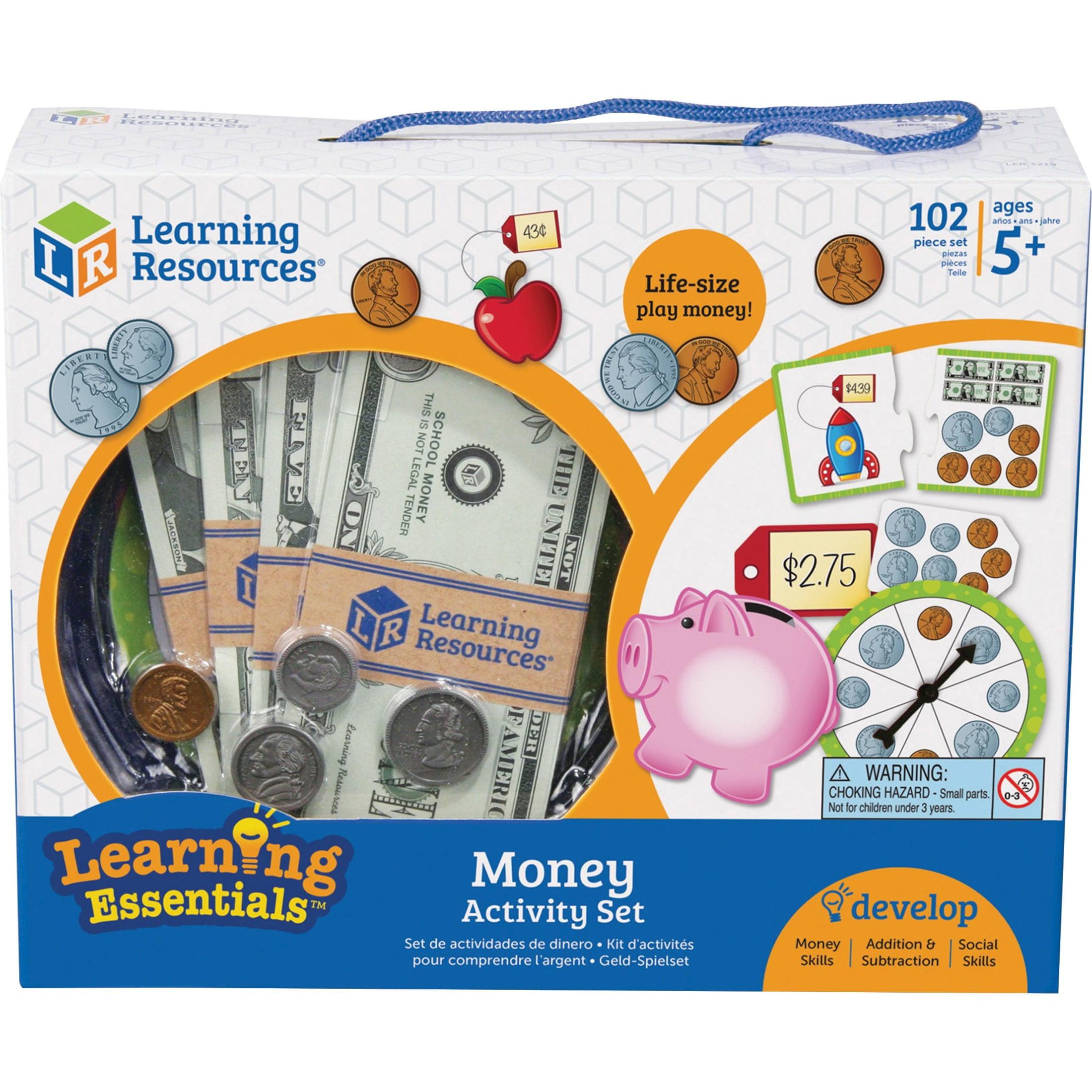 Learning Resources, LRNLER3219, Money Activity Set, 1 / Set, Multi