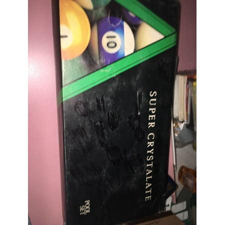 Super Crystalate SET OF BILLIARD POOL BALLS Made in England EUC Billiard Pool Ball Set