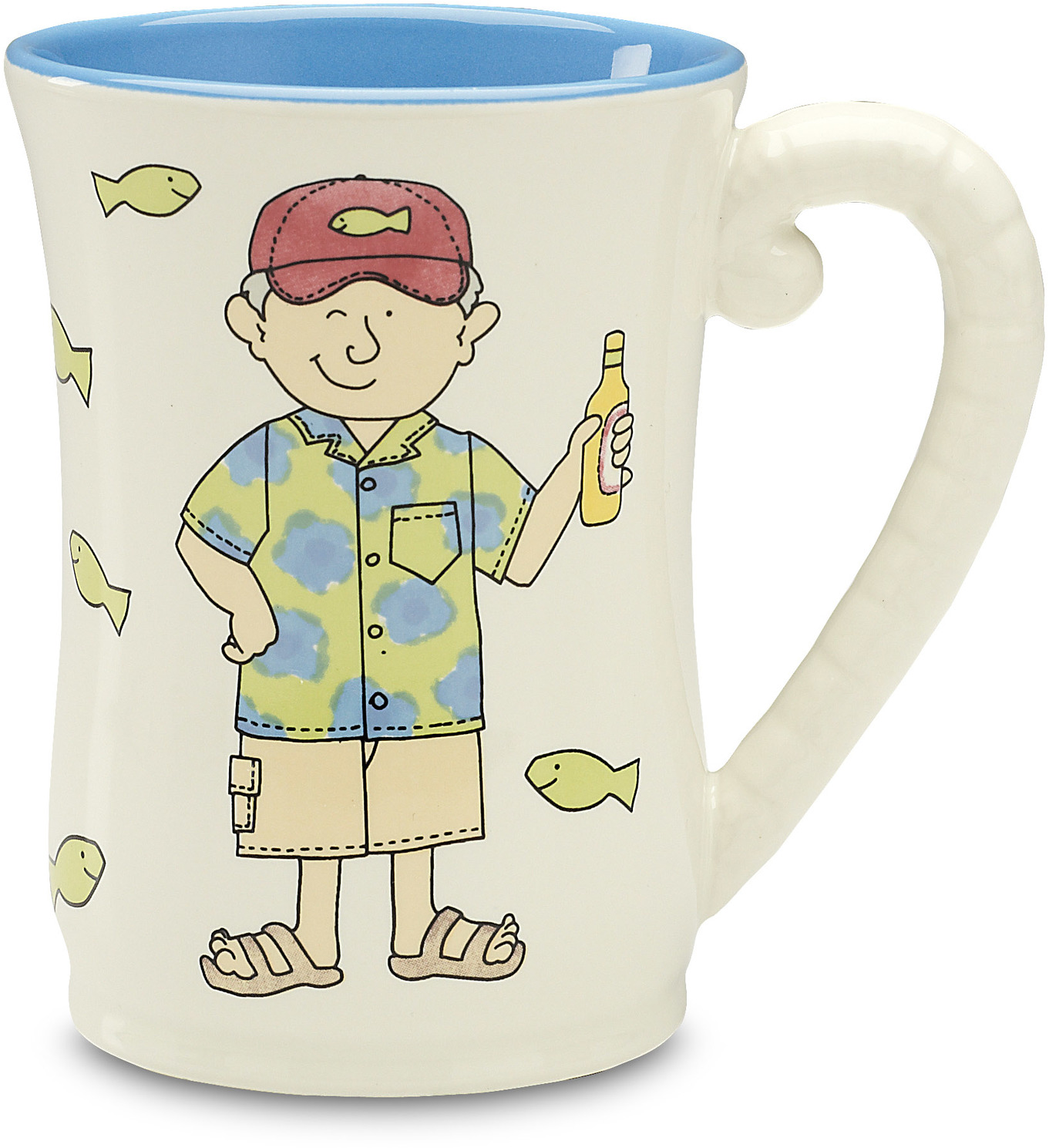 Well Seasoned The Retirement Plan Blue Ceramic Coffee Mug - Grandpa