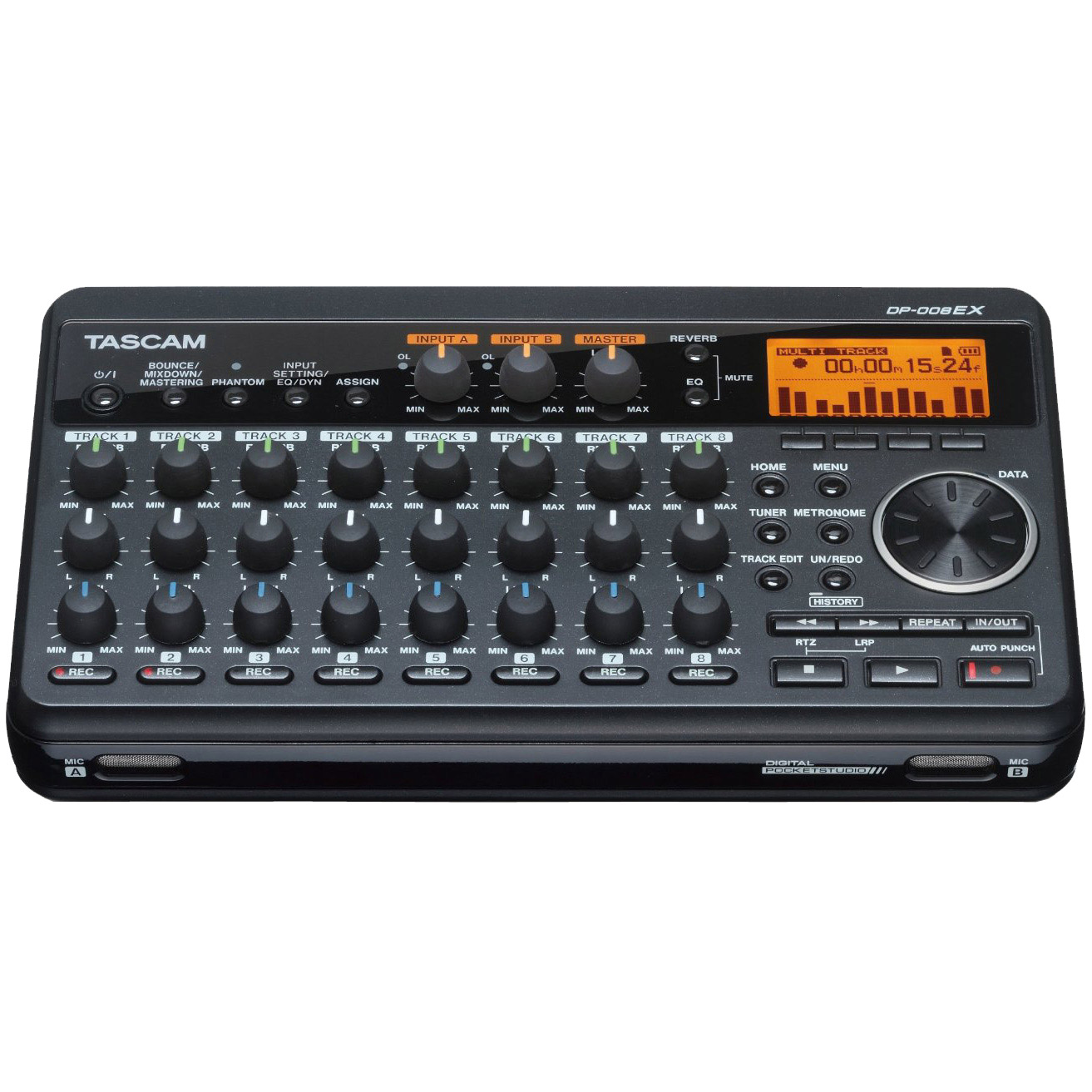 Tascam Compact Portastudio 8 Track Digital Recorder w/ Built In Microphone