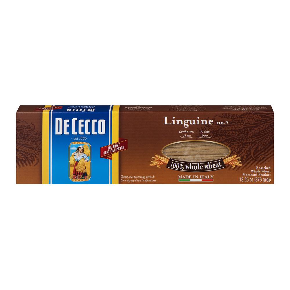 De Cecco Linguine No. 7 Pasta 100% Whole Wheat, 13.25 OZ