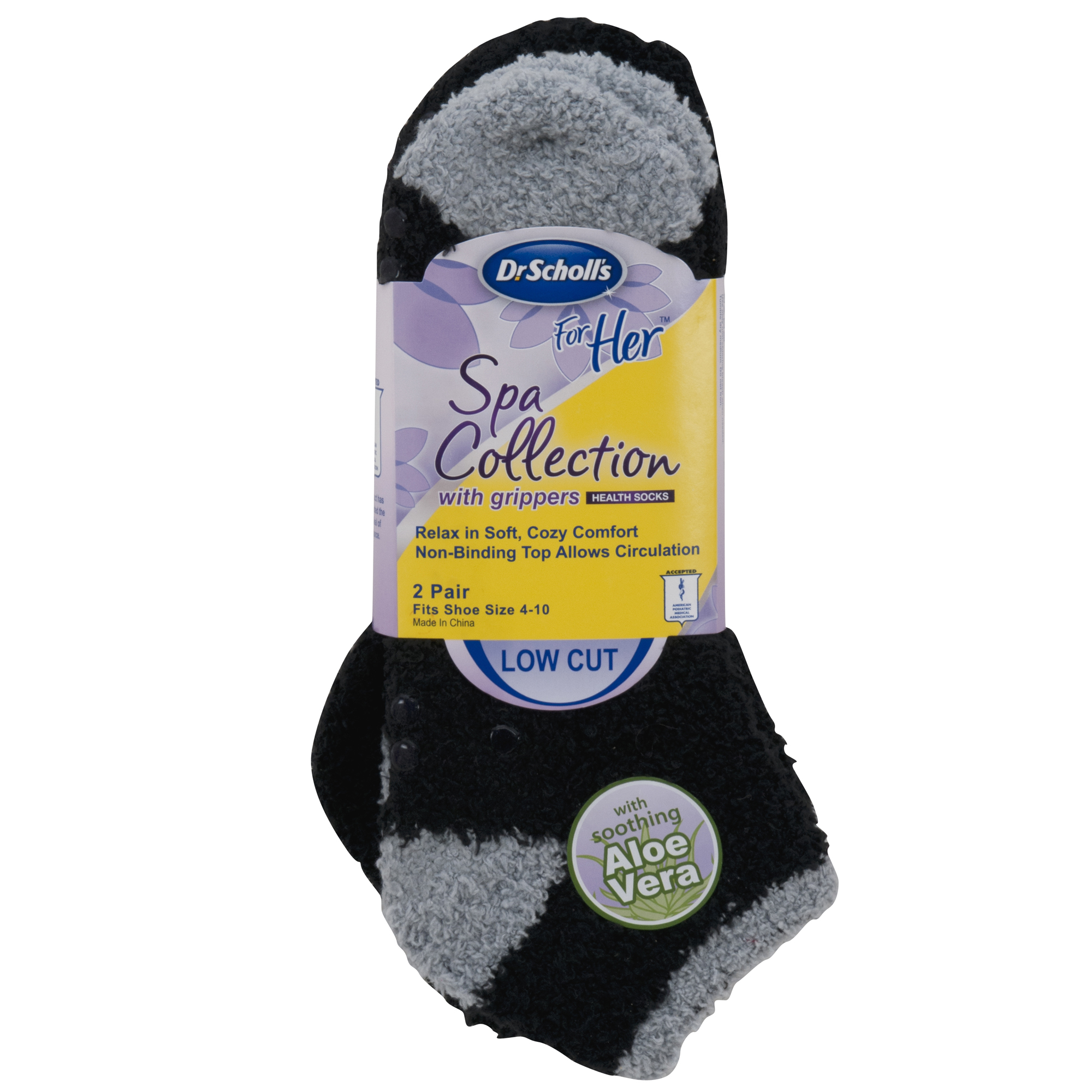 Women's For Her Spa Collection Low Cut Socks, 2-Pack