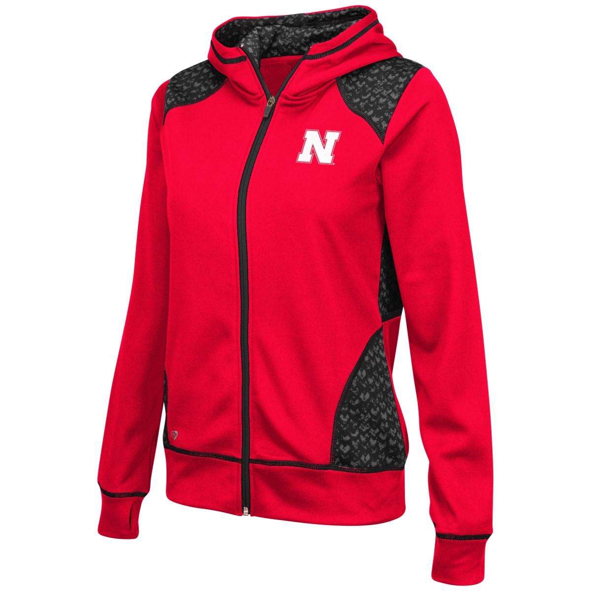 "Nebraska Cornhuskers Women's NCAA ""Scaled"" Full Zip Premium Jacket by Colosseum"