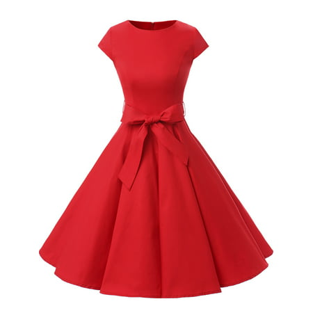 ecff5ac7d Market In The Box - Market In The Box Women Vintage 1950s Cap-Sleeve Retro  Rockabilly Prom Dress - Walmart.com