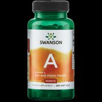 Swanson Vitamin A 10,000 Iu 250 Sgels